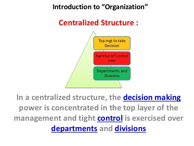 introduction to organization structure An organizational structure is a system that defines how certain activities are directed in order to achieve the aims and success of an organization.