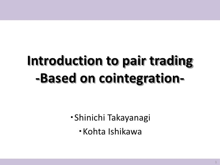 Introduction to pairtrading