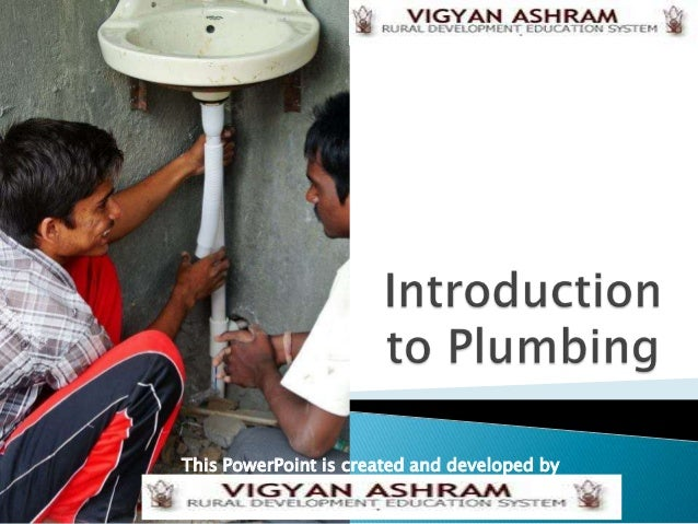Introduction to plumbing part 1