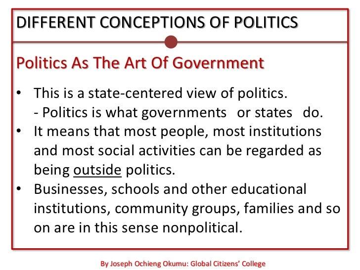 Politics and art essay
