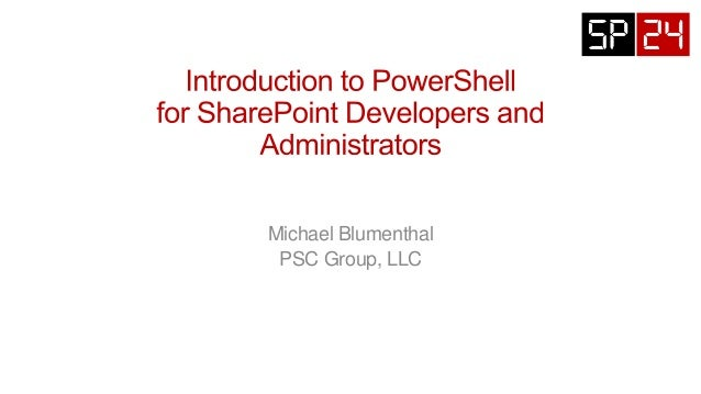 SP24S053 Introduction to PowerShell for SharePoint Developers and Administrators