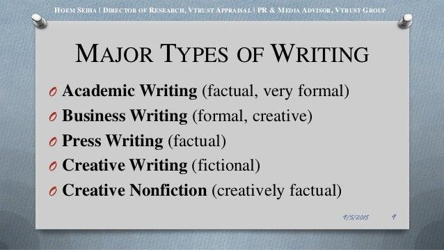 Major in creative writing