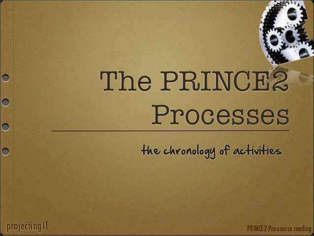 The PRINCE2 Processes the chronology of activities  projectingIT  PRINCE2 Pre-course reading