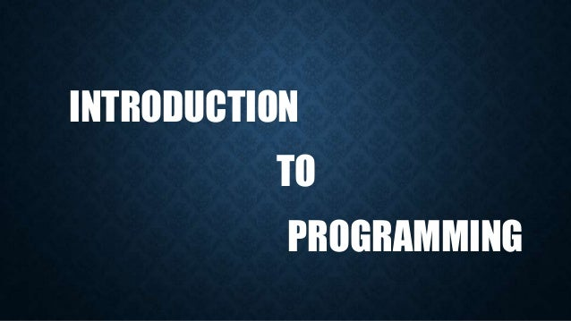 Introduction to programming (the history of programming)