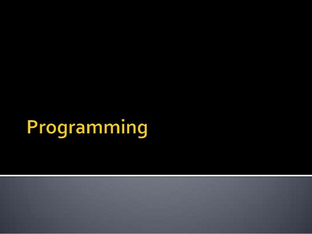 Introduction to programming (week 1)