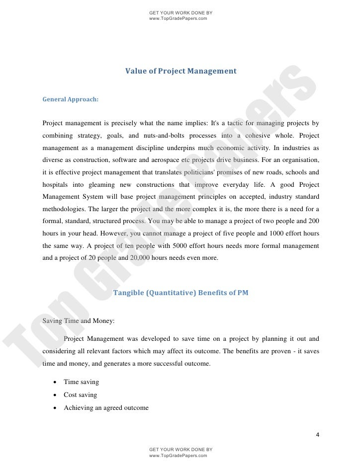 project management Research Paper Starter