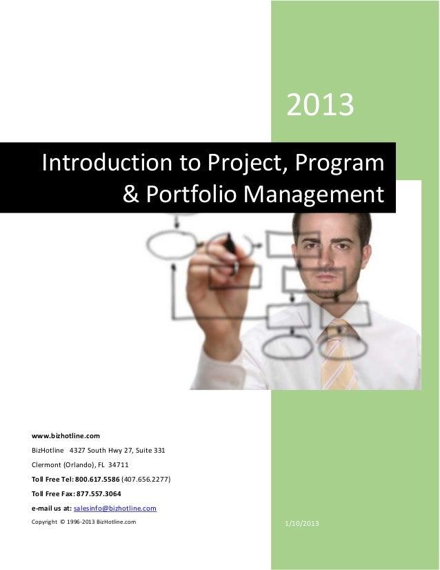 Introduction to project, program & portfolio management