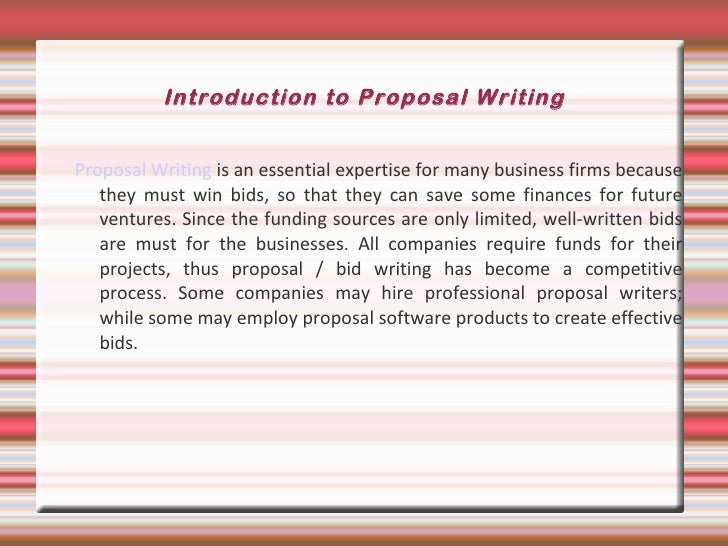 Introduction to a proposal essay