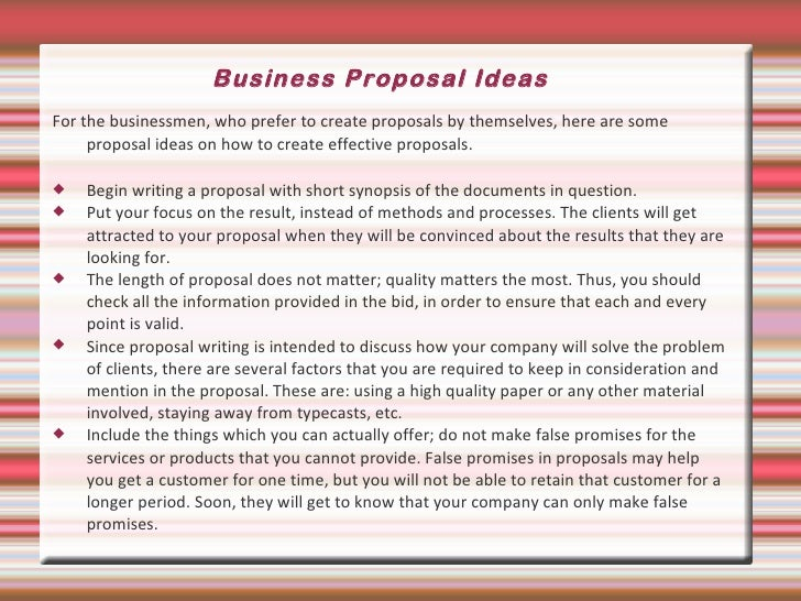 How do you start to write a business proposal?