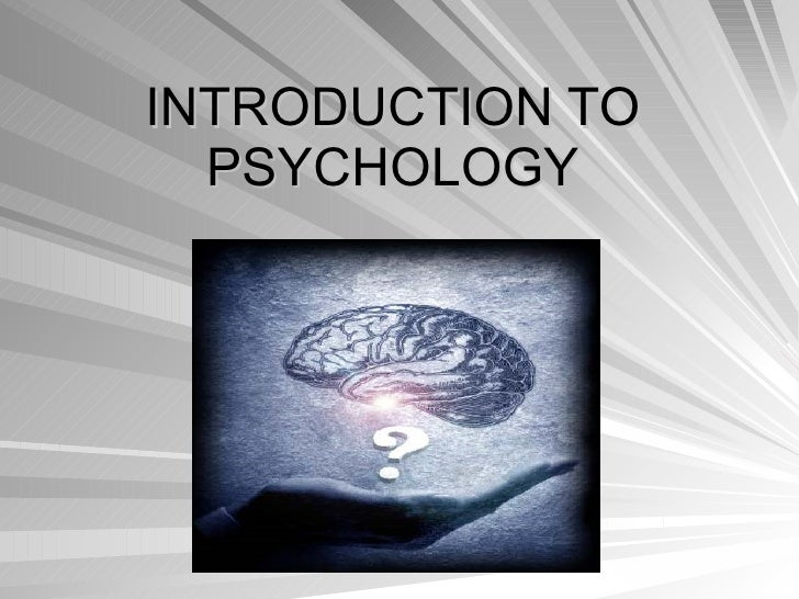 introduction to psychology paper assignment The introduction tells the reader what the paper is about it includes a statement of the it includes a statement of the problem being addressed, the position being defended, or the writer's hypothesis.