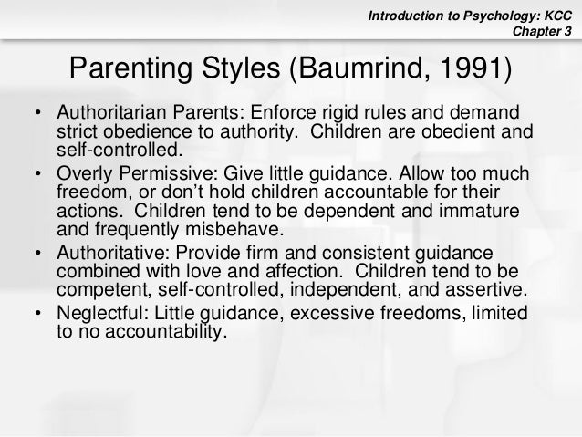 parenting styles essay introduction Writing the first paragraph of an introduction 1  however, some research has  suggested that the influence of parenting style may vary across cultures and by.