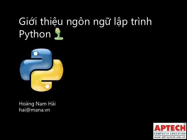 Introduction to python   20110917