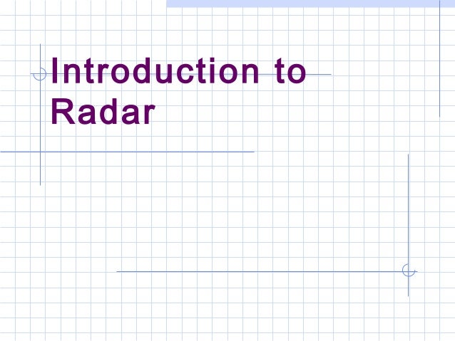 an introduction to the analysis of radar Lidar an introduction and overview  comparison of lidar and radar lidar radar uses optical signals  landslide risk analysis.