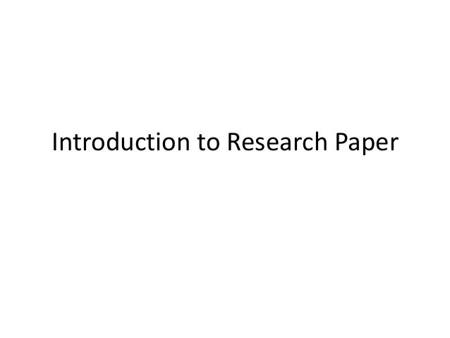 technology research paper introduction