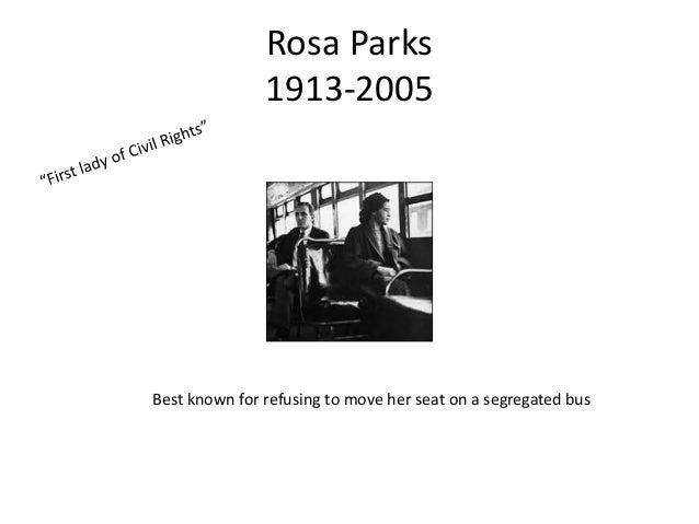 Rosa Parks and her significance to the Civil Rights