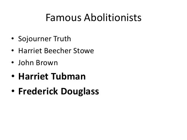 abolitionist movement research papers