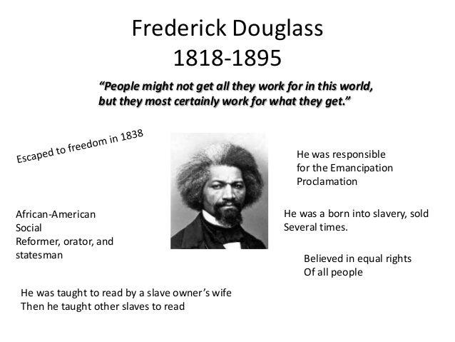 frederick douglass bio essay