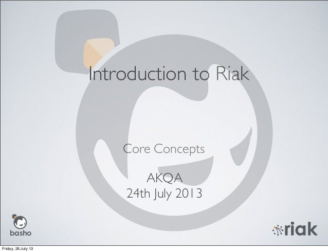 Introduction to Riak - Joel Jacobson