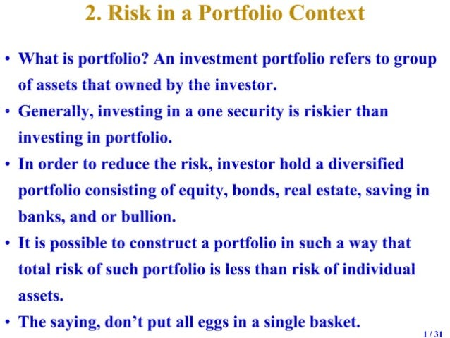 Introduction to risk and return   2