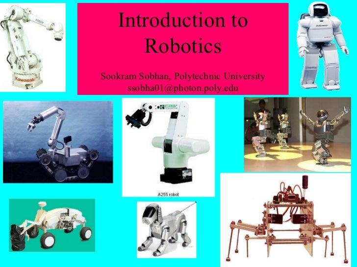 Introductionto robotics a