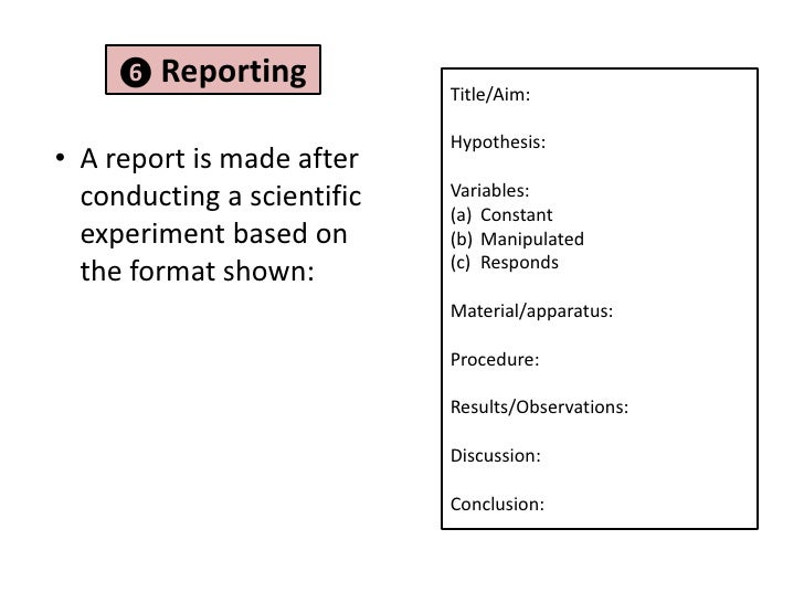 Science prac report structure