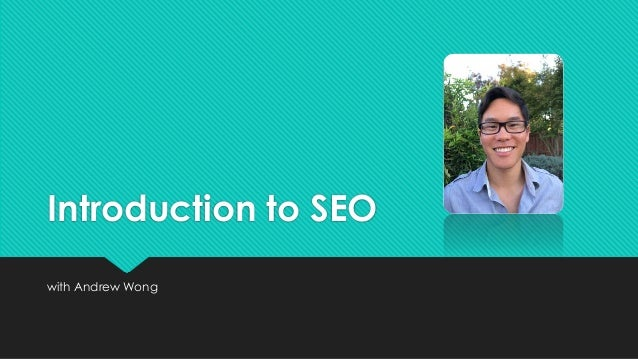 Introduction to SEO with Andrew Wong