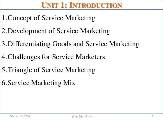 introduction to service marketing For undergraduate principles of marketing courses this best-selling, brief text introduces marketing through the lens of creating value for customers with engaging real-world examples and.