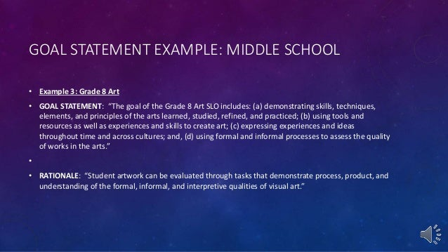 personal goal statement examples