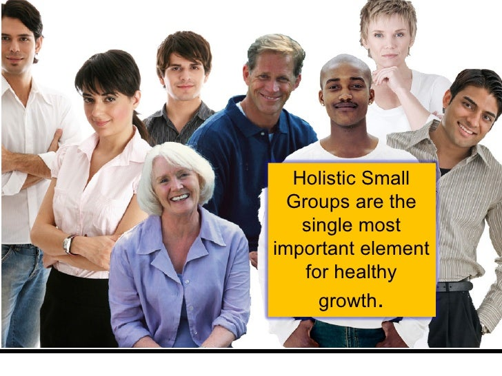 Holistic Small Groups are the single most important element for healthy growth .