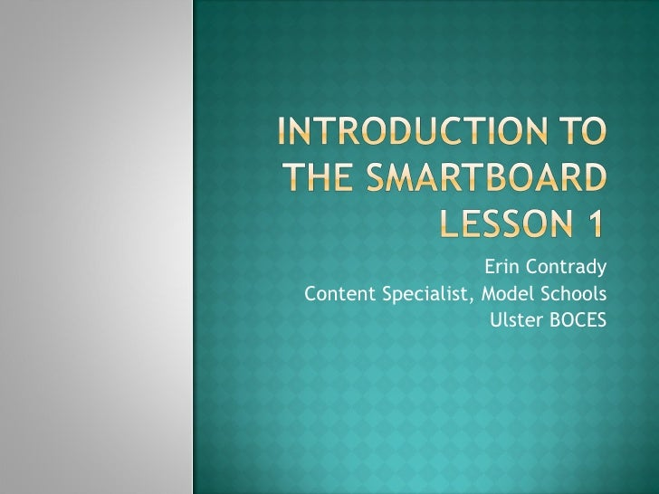 Introduction to smartboard 1