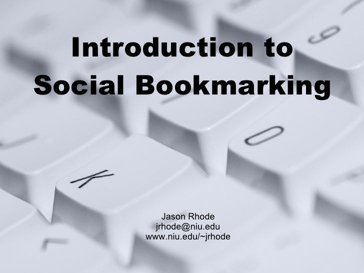 Introduction to Social Bookmarking