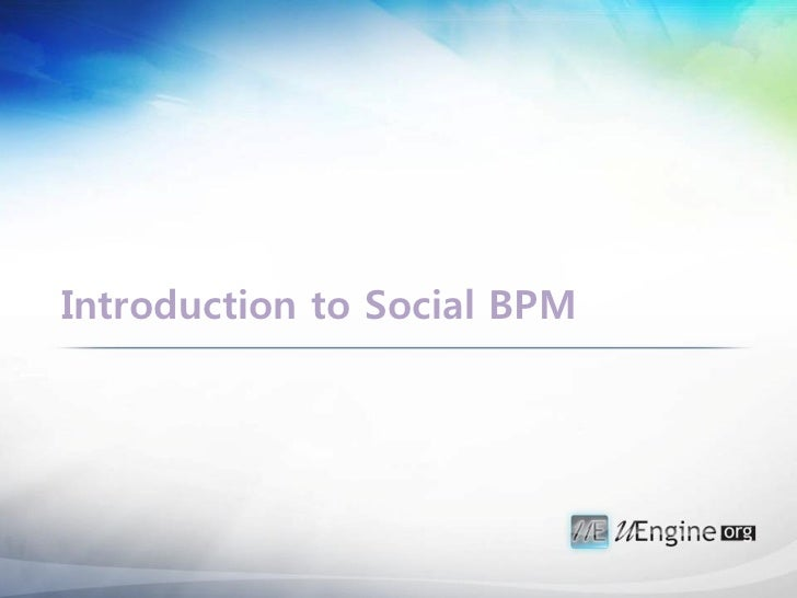 [uengine.org]Introduction to social bpm
