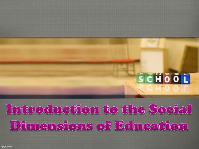 Sociologists see education as one of the major institutions that constitutes society. Social science theories guide resear...