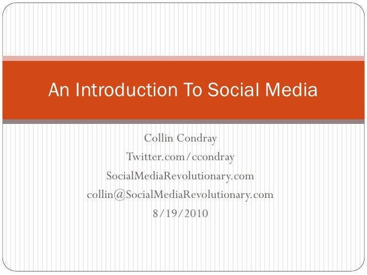 Introduction To Social Media-ITRI Presentation