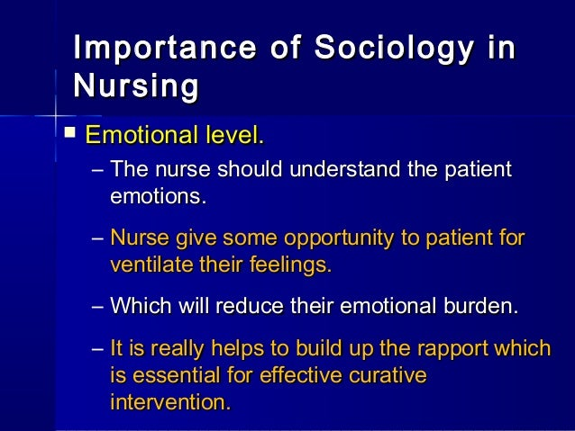 the necessity of sociology of health The meaning of health and illness: some considerations for health psychology evely boruchovitch1 2 sociology, psychology, and politics paramount importance for health and well-being by adding the psychological and social criteria.
