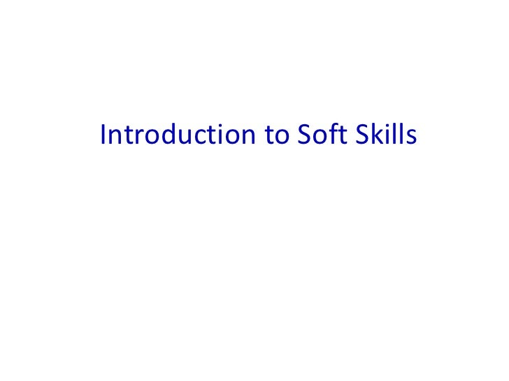 Introduction to Soft Skills<br />