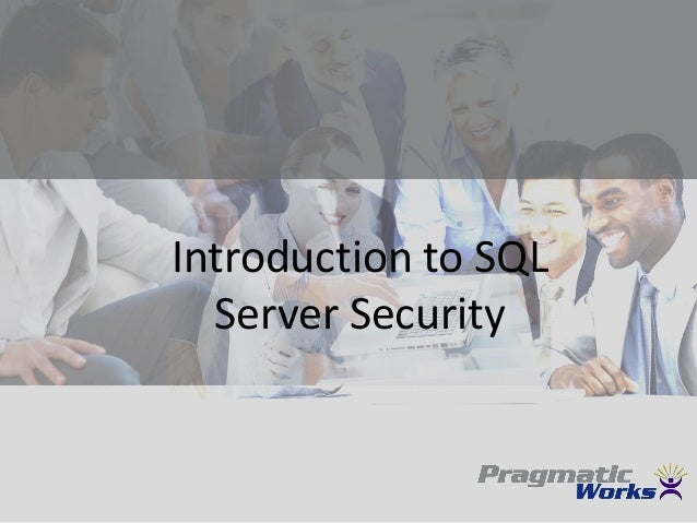 Introduction to SQL Server Security