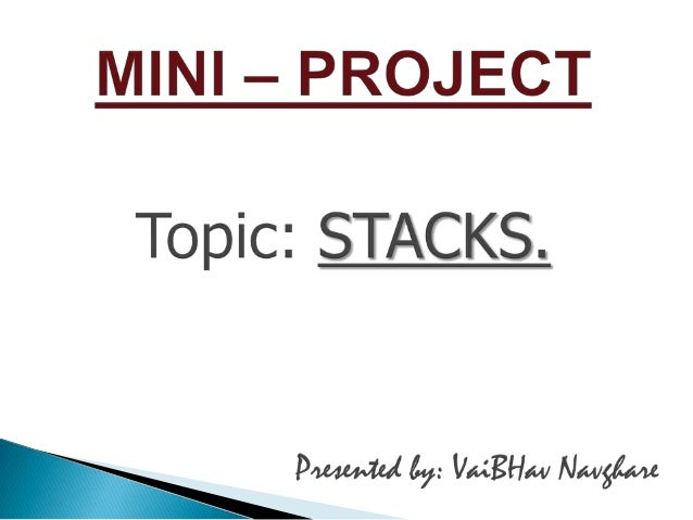          Introduction Primitive Operations Done On Stack Representation Of Stack On Array Diagram Of Stack During P...