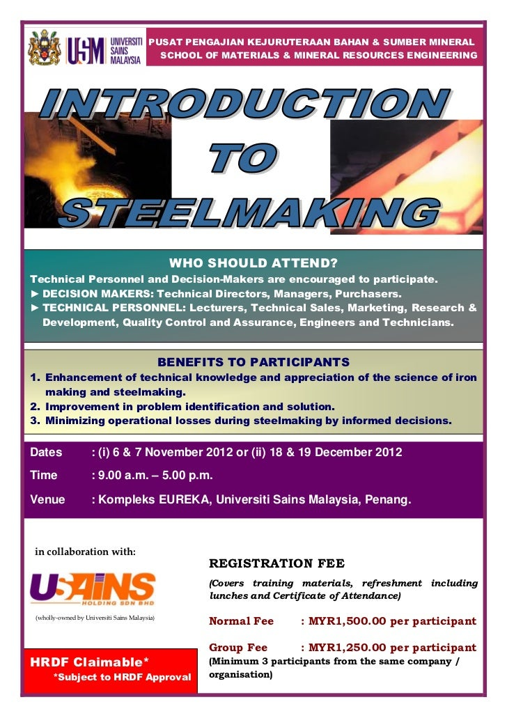 Introduction to Steelmaking 2012