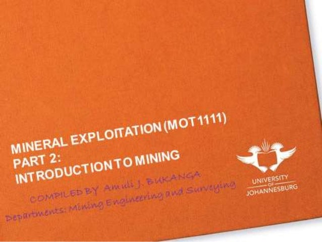 Introduction to surface mining  19 02 2013