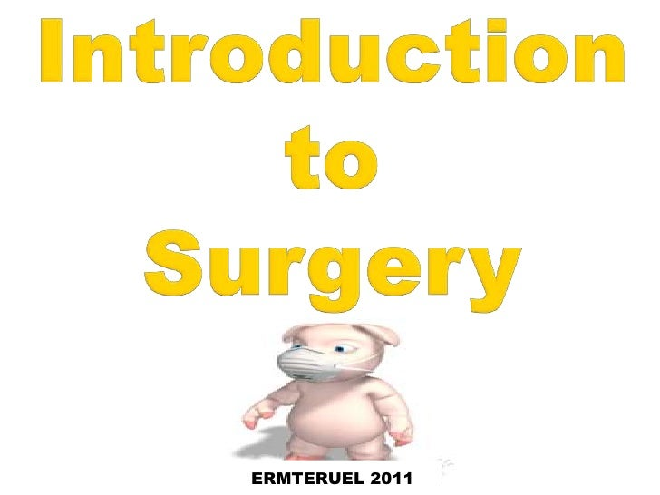 Introduction to surgery with his   1st sem 2011