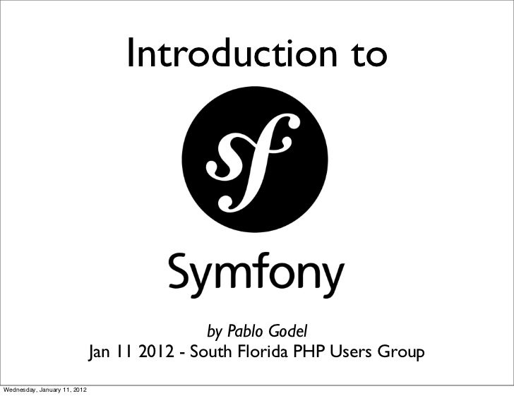 Introduction to symfony2