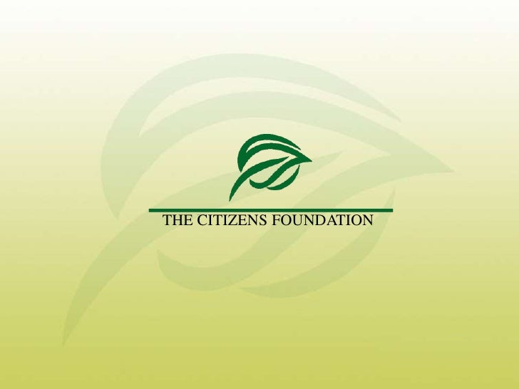 THE CITIZENS FOUNDATION<br />