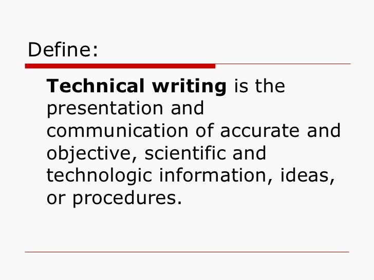 Technical writing meaning