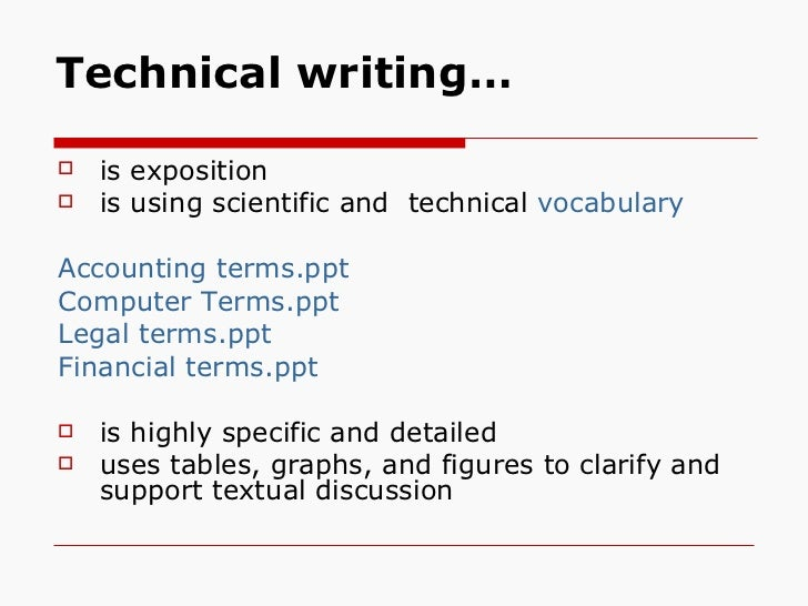 Technical writing terminology