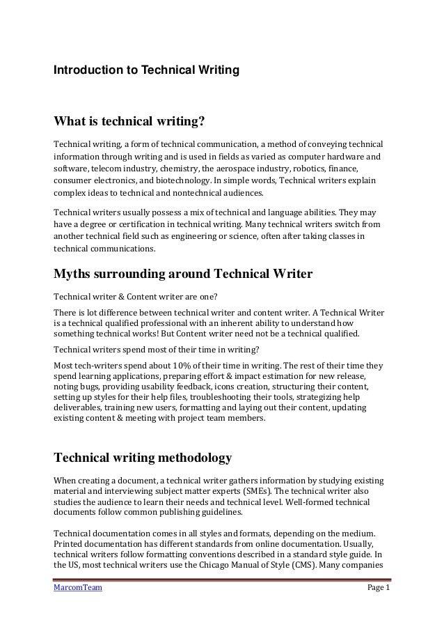 Aerospace technical writer