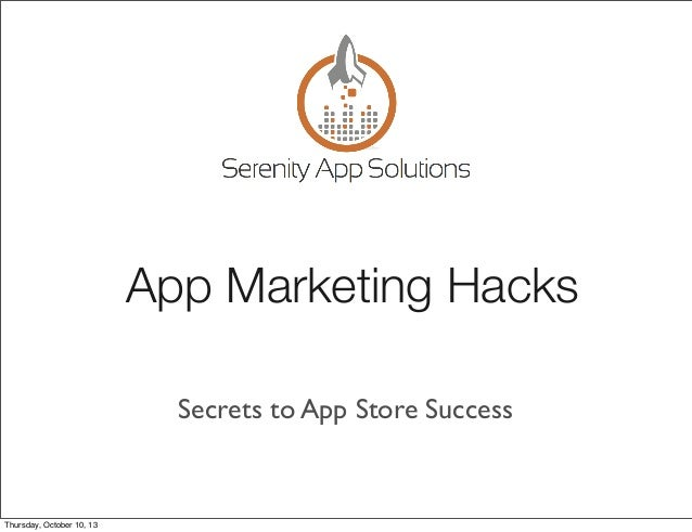 App Development: Marketing Hacks-Secrets to App Store Success in iOS 7 Introduction