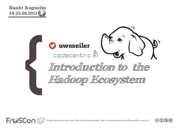 Sankt Augustin 24-25.08.2013 Introduction to the Hadoop Ecosystem uweseiler
