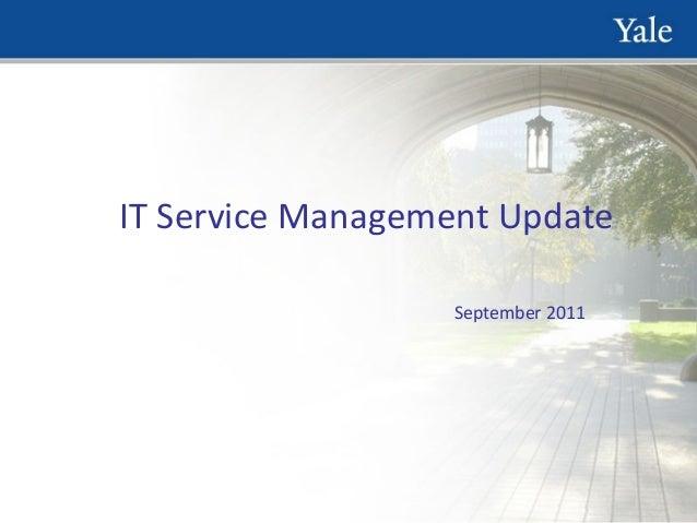 IT Service Management Update September 2011