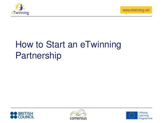 How to Start an eTwinningPartnership